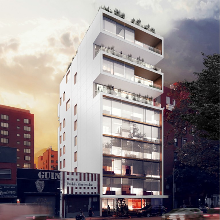First Look At 10-Story, 13-Unit Mixed-Use Project At 173 Chrystie Street, Lower East Side